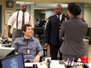 'Brooklyn Nine-Nine': Terry Crews, Andy Samberg, Andre Braugher and Melissa Fumero