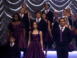 The members of New Directions perform at Regionals in Glee S04E22: 'All or Nothing'