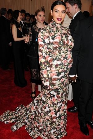Kim Kardashian, Met Ball 2013, RICCARDO TISCI, floral dress, Punk: Chaos To Couture exhibition, Metropolitan Museum of Art, New York