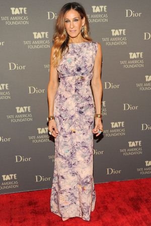Sarah Jessica Parker, Tate Americas Foundation artists dinner and after party, New York, vintage dress, floral