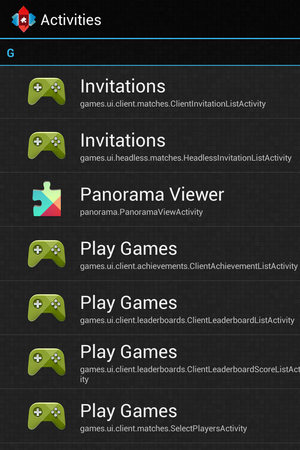 Google Play Games 'activities'