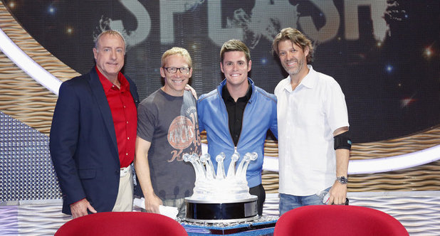 Steve Foley, Executive Producer JD Roth, David Boudia, and Executive Producer Todd A. Nelson