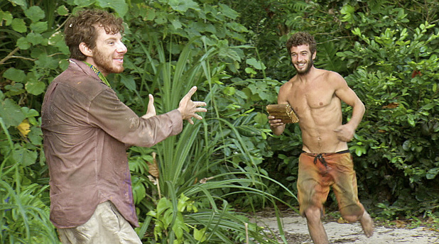 "John Cochran and Edward ""Eddie"" Fox during episode 13 of 'Survivor: Caramoan'"