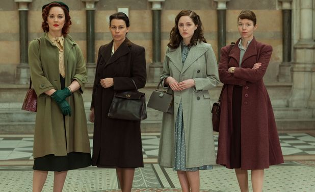 'The Bletchley Circle': Rachel Stirling as Millie, Julie Graham as Jean, Sophie Rundle as Lucy and Anna Maxwell Martin