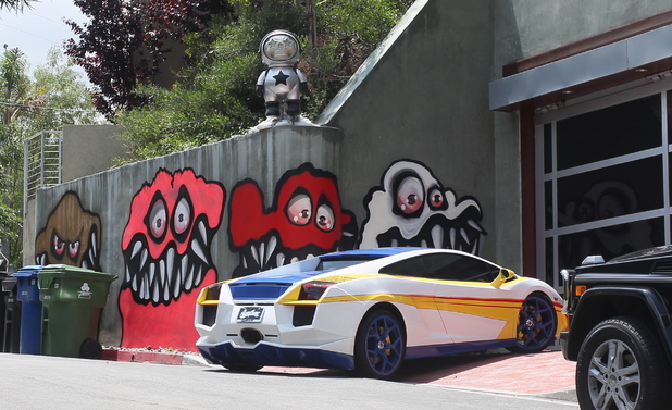 Graffiti on the home of Chris Brown which has been ordered to be removed