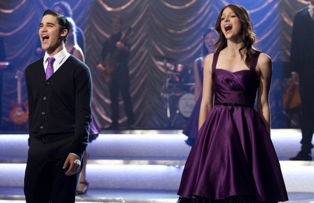 Blaine (Darren Criss) and Marley (Melissa Benoist) perform at Regionals in Glee S04E22: 'All or Nothing'