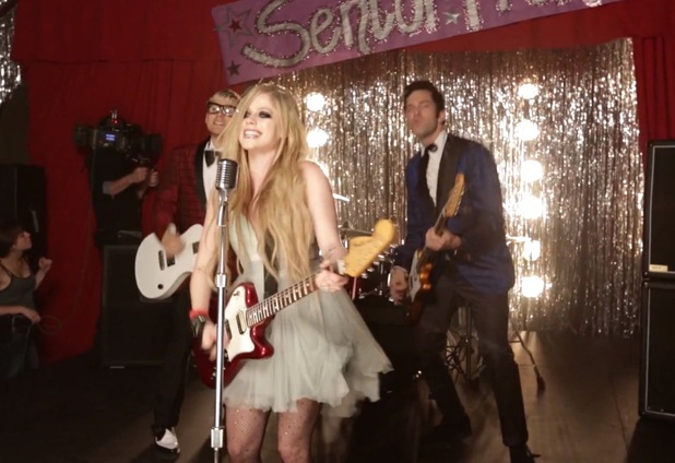 Avril Lavigne in 'Here's To Never Growing Up' video