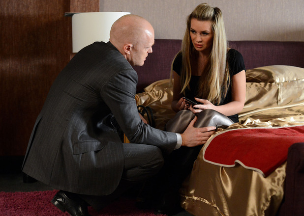 Kirsty tells Max her ex has been released from prison.