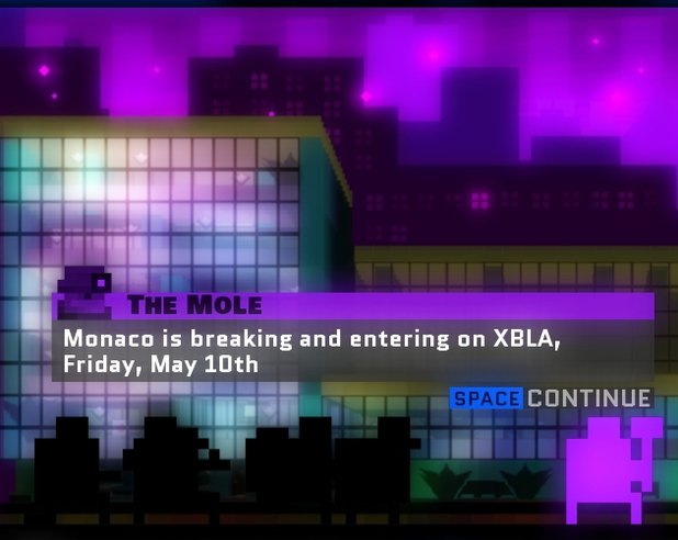 'Monaco: What's Yours Is Mine' XBLA release date announcement