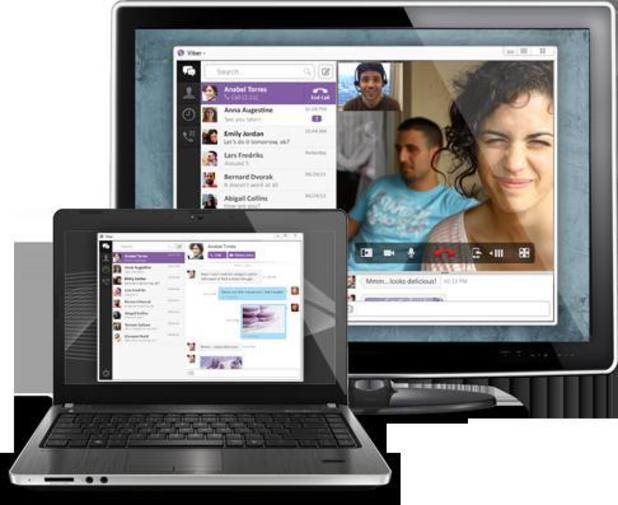 Viber running on a PC