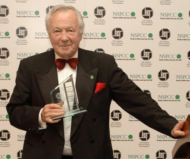 Bryan Forbes CBE wins the Dilys Powell Award for Outstanding Contribution to Cinema at the London Film Critics Circle Awards in February 2006