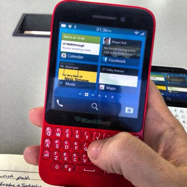 Leaked image of the BlackBerry R10 smartphone