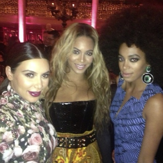 Kim Kardashian, Beyoncé and Solange Knowles at the Met Ball
