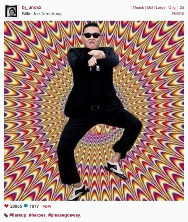 Psy instagram post