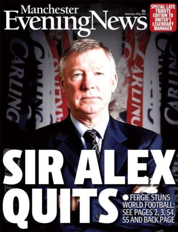 Media: Sir Alex Ferguson retires - Front and back pages of the papers