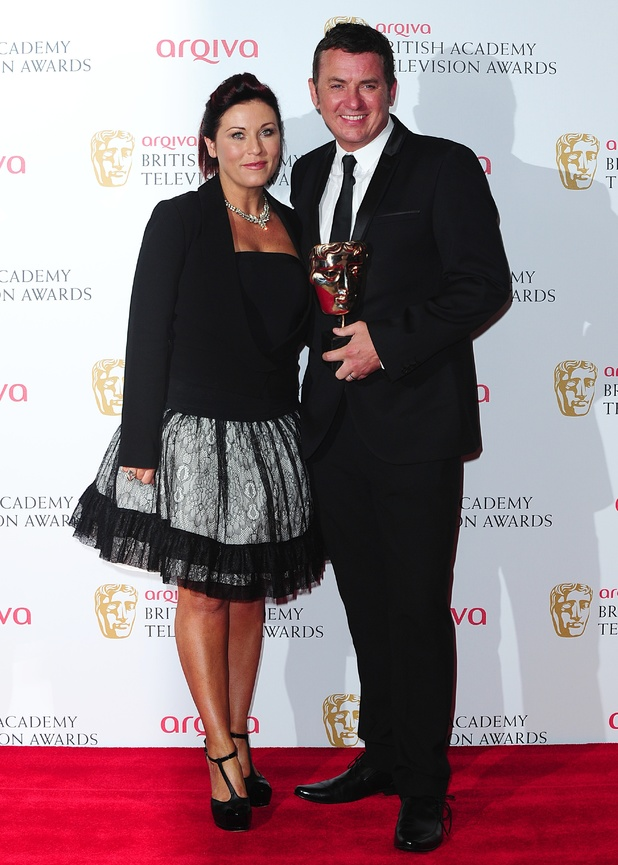 The 2013 Baftas - winners: Jessie Wallace and Shane Richie with the Soap and Continuing Drama Award for Eastenders