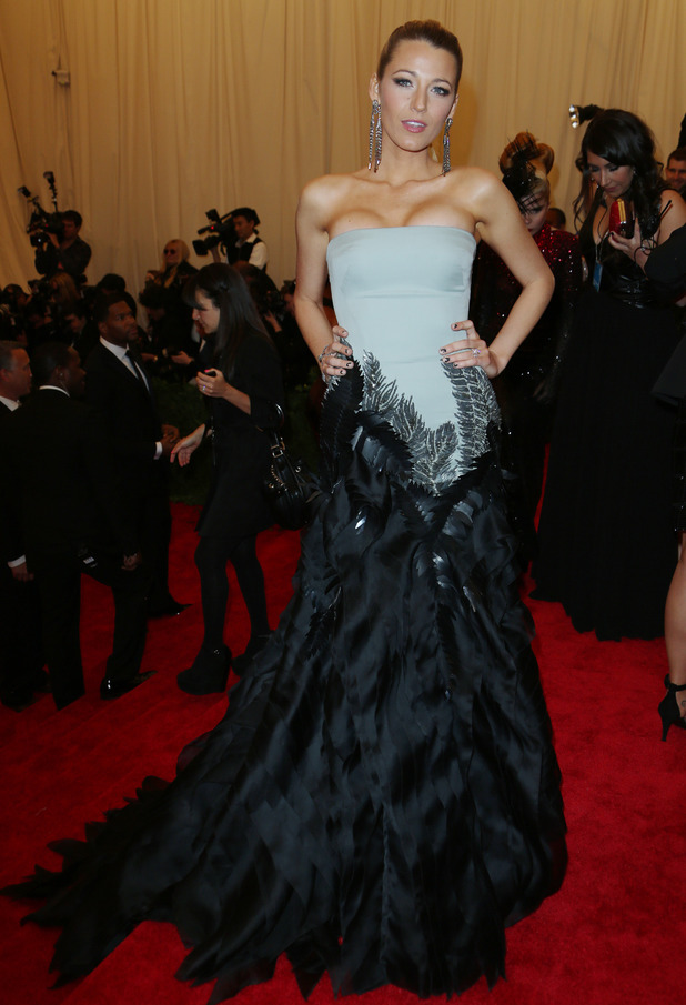 Blake Lively, Met Ball 2013, Gucci gown, Metropolitan Museum of Art, New York, America