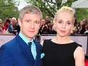 The 2013 Baftas - arrivals: Martin Freeman and Amanda Abbingdon