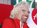 The billionaire dresses as a female AirAsia flight attendant after losing a bet.
