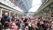 1,000 people invade St Pancras Station to take part and sing 'Do You Hear the People Sing!' for Les Misérables