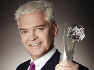 Phillip Schofield with a British Soap Award