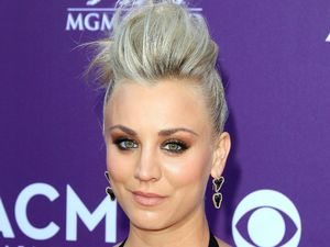 Kaley Cuoco, quiff, 48th Annual Academy of Country Music Awards, Las Vegas