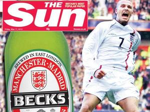 David Beckham front covers: The Sun