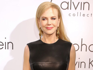 Nicole Kidman, leather dress, Calvin Klein party, 66th Cannes Film Festival