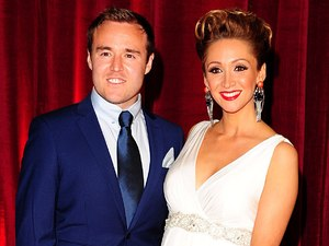 Lucy-Jo Hudson and Alan Halsall arrive for The British Soap Awards.