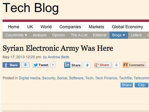 'Financial Times' hacked by Syrian Electronic Army