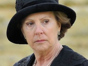 Penelope Wilton on the set of 'Downton Abbey' in Bampton, Oxfordshire