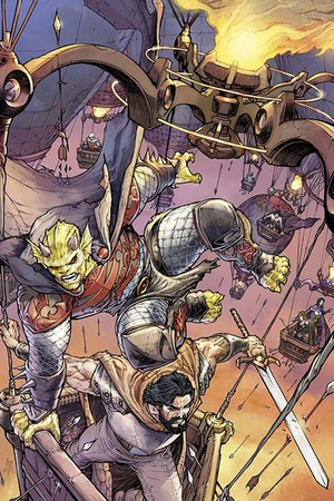 Artwork from 'Demon Knights' #23