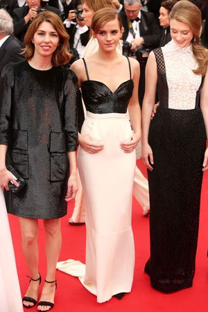 Emma Watson, Claire Julien, Sofia Coppola, Cannes Film Festival, The Bling Ring, Chanel gown, monochrome