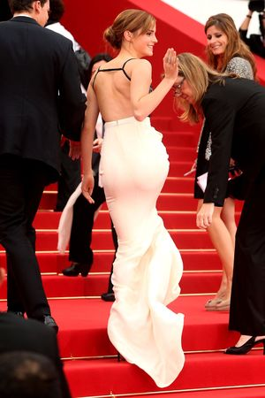 Emma Watson, 2013 Cannes Film Festival, Chanel gown, monochrome, The Bling Ring