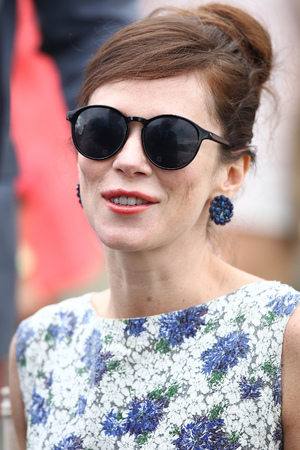 Anna Friel at the St Regis International Polo event at Cowdray Park