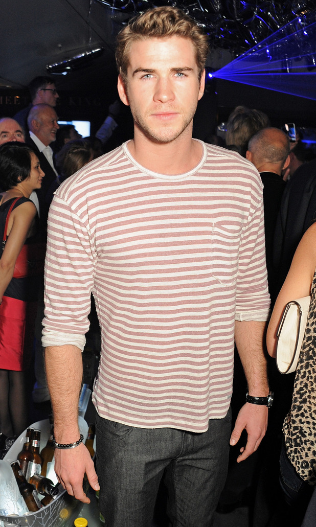 Liam Hemsworth attends the Belvedere Party in Cannes.