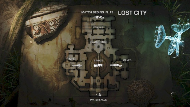 Lost City map
