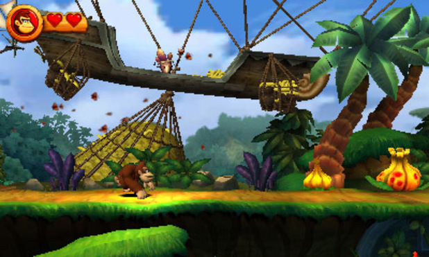 'Donkey Kong Country Returns 3D' screenshot