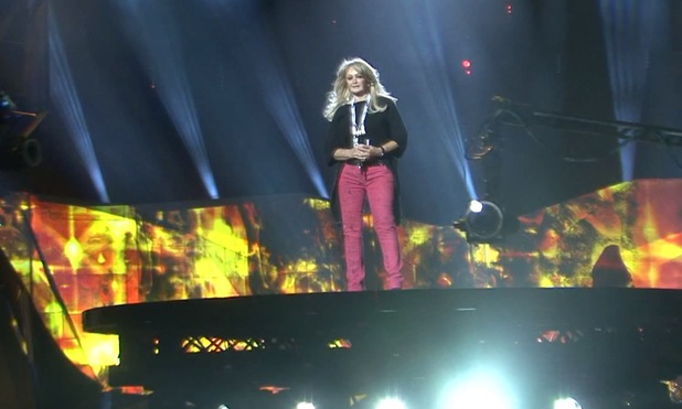 Bonnie Tyler rehearses for Eurovision Song Contest