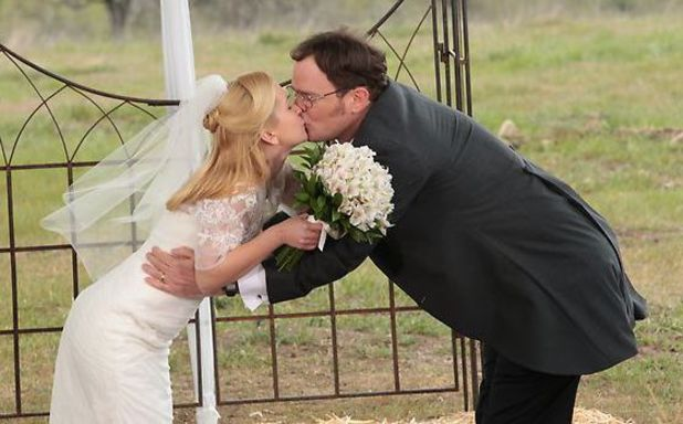 Dwight and Angela marry.