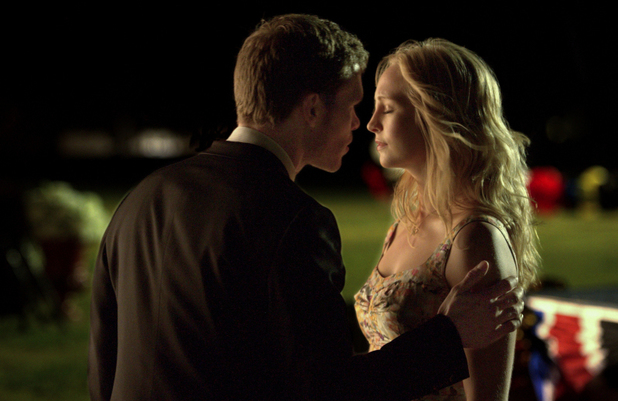Joseph Morgan as Klaus and Candice Accola as Caroline in The Vampire Diaries S04E23: 'Graduation'
