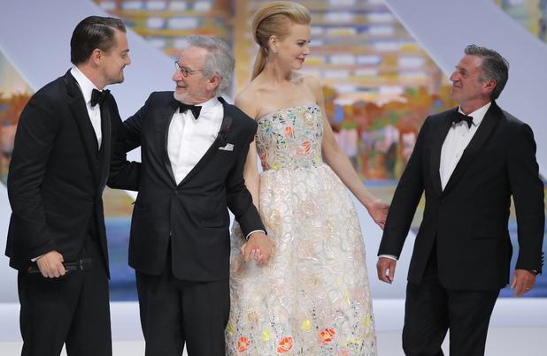 Leonardo DiCaprio, Steven Spielberg, Nicole Kidman and Daniel Auteuil