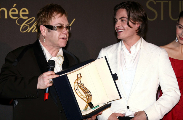 Elton John and Kevin Zegers at Cannes 2006