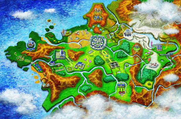 Pokemon X and Y: A map of Kalos