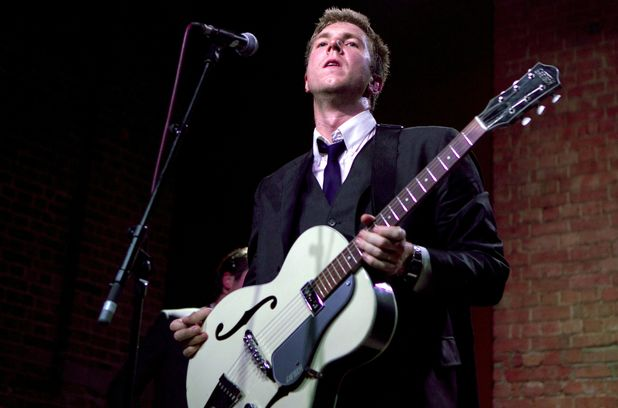 The Walkmen's Hamilton Leithauser on stage at Village Underground, London ~~ June 12, 2012