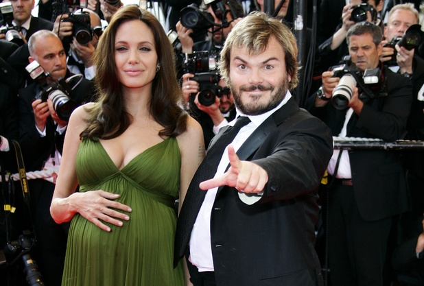 Angelina Jolie and Jack Black  at Cannes 2008