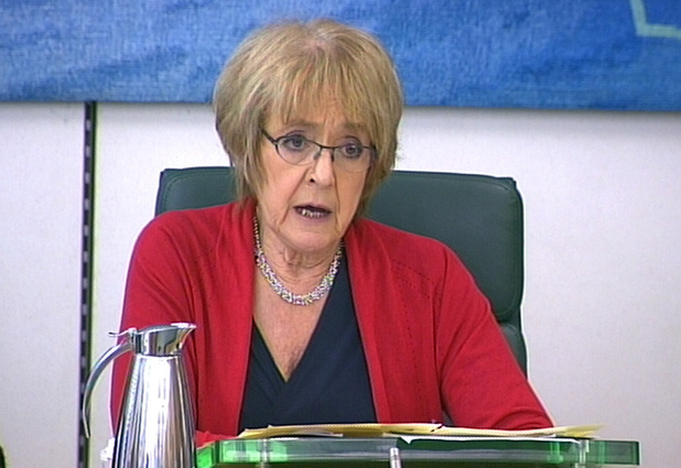 Committee chairman Margaret Hodge speaks as Google vice president Matt Brittin and John Dixon, Ernst and Young's head of tax, give evidence to a Public Accounts Committee on tax avoidance