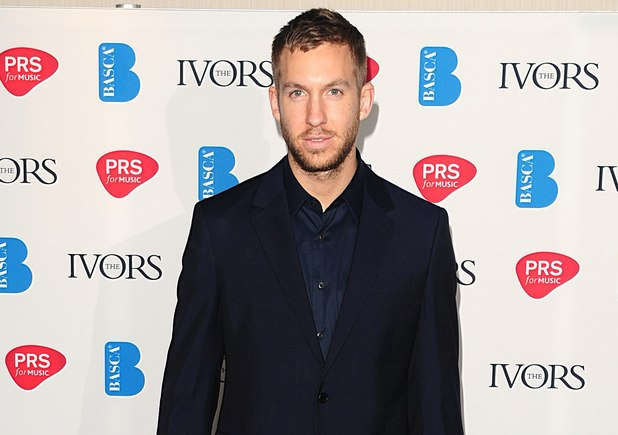 Calvin Harris arrives at the 2013 Ivor Novello awards held at the Grosvenor House Hotel, London.