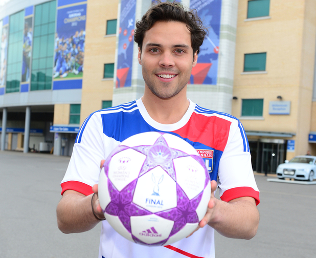Andy Jordan, Made in Chelsea, celebrates one week to go until the UEFA Women's Champions League final, which takes place at Chelsea FC's Stamford Bridge