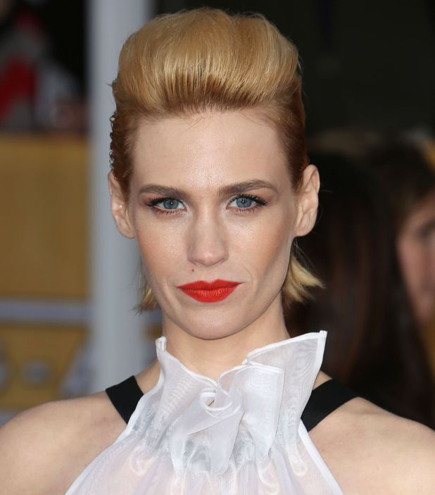 January Jones, blonde quiff, 2013 19th Annual Screen Actors Guild Awards, Arrivals